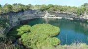 Cenote Zacatón from above