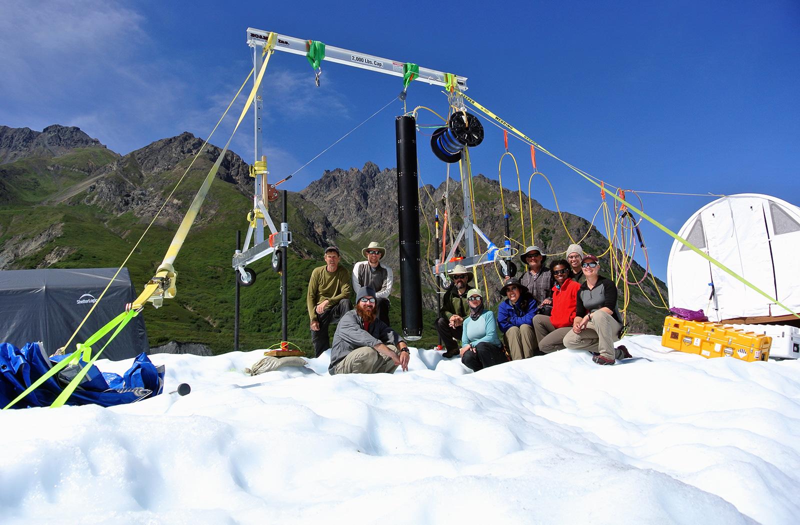 Valkyrie Team at Matanuska Glacier