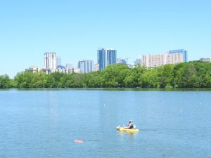 Testing the Sunfish AUV at Lady Bird Lake in Austin