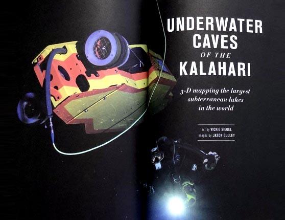 Title page of Kalahari Explorers Journal article